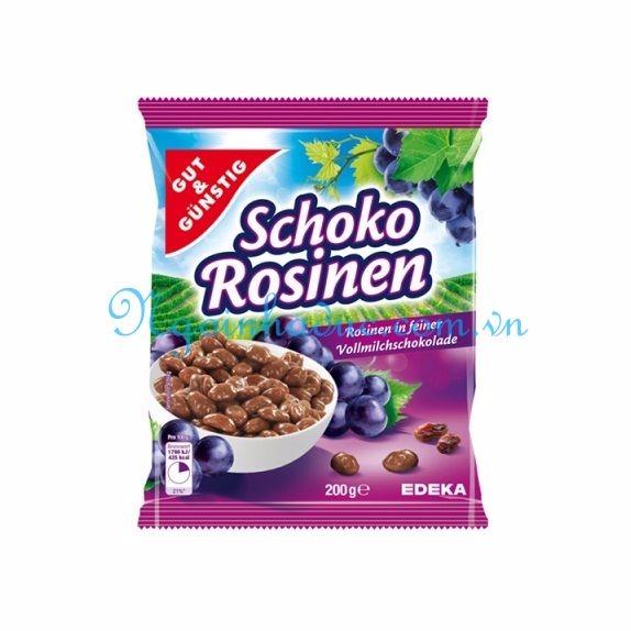 Kẹo nho bọc socola GUT & GUNSTIG Schoko Rosinen 200g