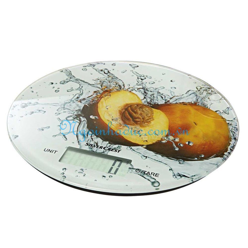 Cân bếp điện tử Silver Crest (tối đa 5kg) (vàng)