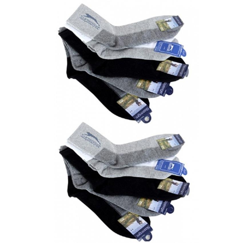 Bộ 10 đôi vớ nam cổ cao Slazenger Hàn Quốc