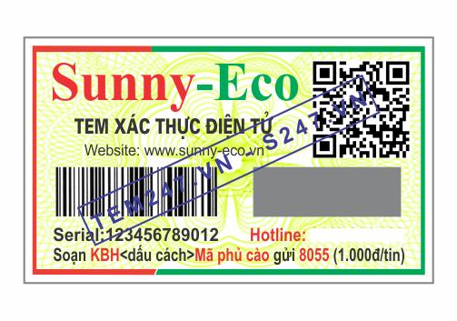 MS056 - Tem Sunny-eco kích cỡ 3x5