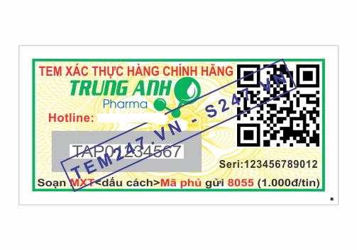 MS059 - Tem Trung Anh Pharma kích cỡ 1.5x3