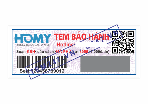 MS025 - Tem Homy kích cỡ 1.8x4