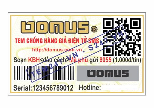 MS018 - Tem Donus kích cỡ 3x5