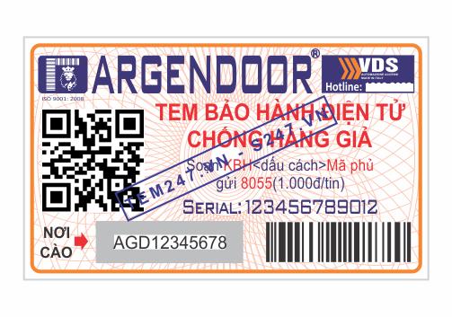 MS006 - Tem Argendoor kích cỡ 3x5