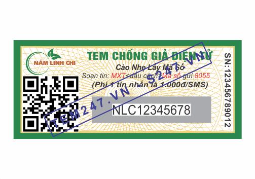 MS043 - Tem Nấm Linh Chi kích cỡ 1.5x3