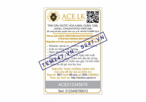 MS003 - Tem ACE kích cỡ 4x6