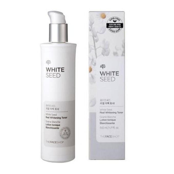Nước hoa hồng dưỡng trắng da The Faceshop White Seed Real Whitening Toner 145ml