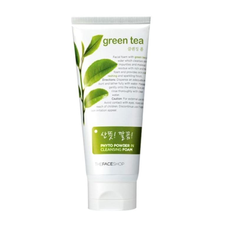 Sữa rửa mặt trà xanh The Face Shop Tea Foam Cleanser Green 150ml