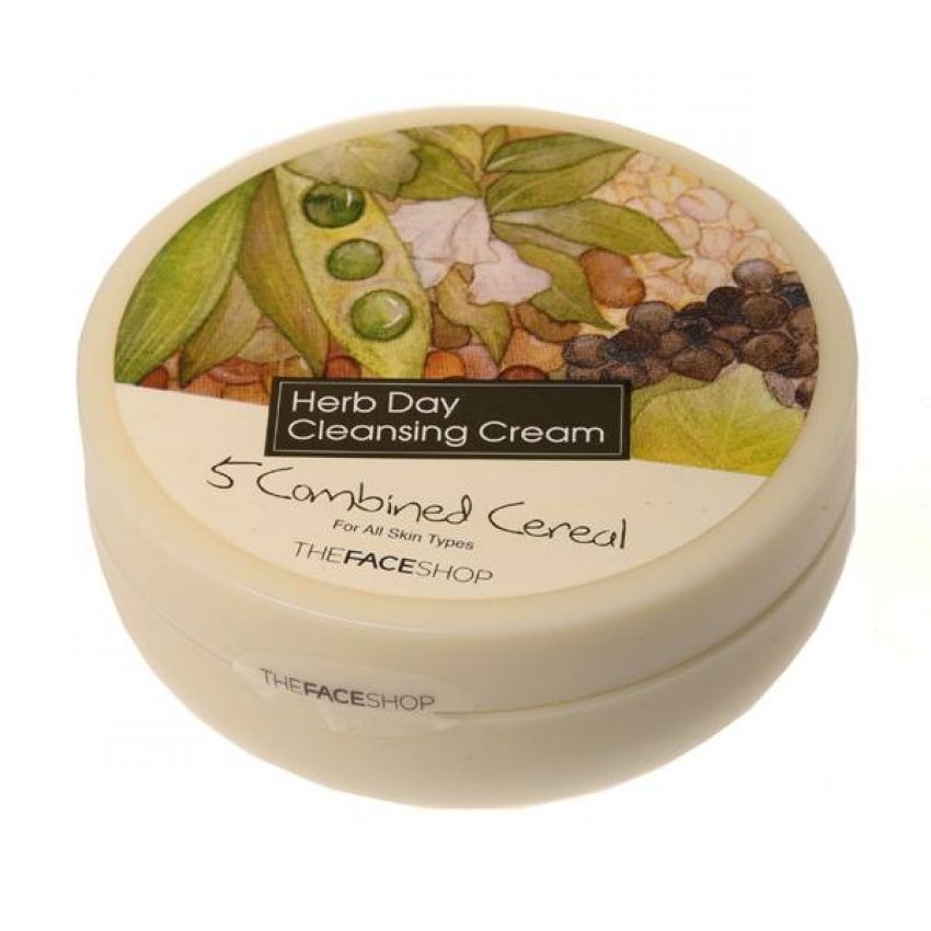 Kem tẩy trang ngũ cốc- The Face Shop Herb Day Cleansing Cream Five Grain (5 Combined Cereal) 150ml