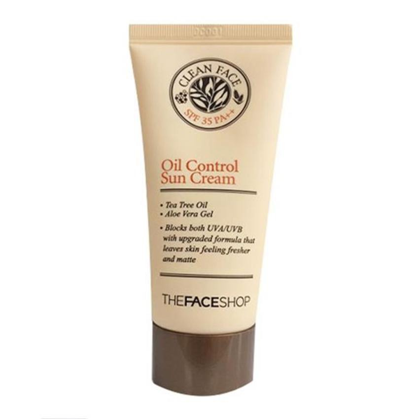 Kem chống nắng THE FACESHOP Clean Face Oil Control Sun Cream SPF 35 PA++ 50ml