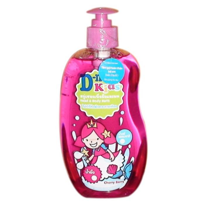 Tắm gội toàn thân Dnee Kids cho bé từ ba tuổi trở lên màu hồng 400ml