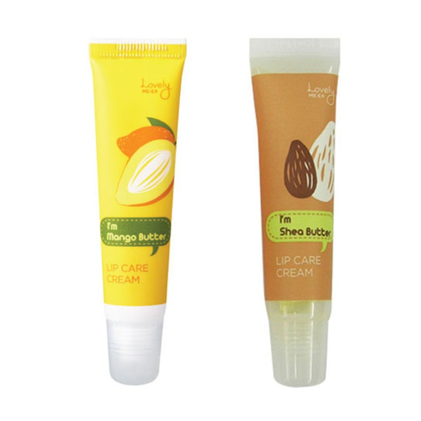 Bộ 2 son dưỡng môi The face shop Lovely Me:ex Lip Care Cream Shea & Mango butter 2 x 12g