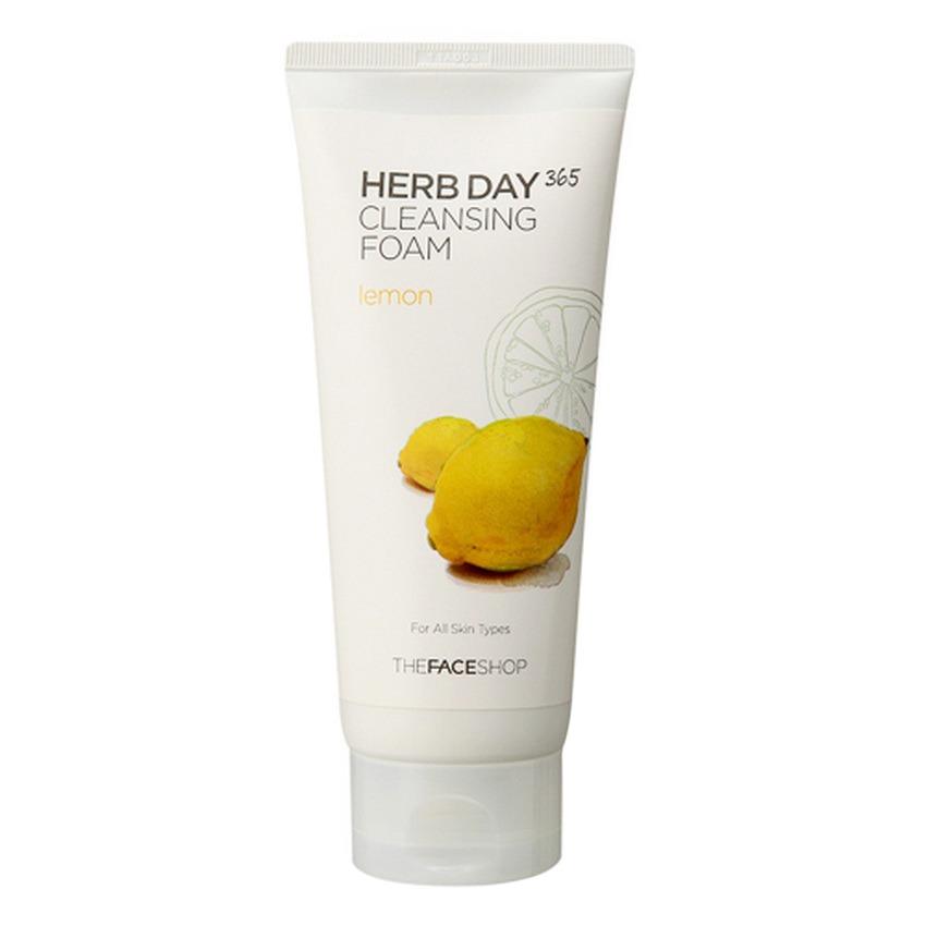 Sữa rửa mặt làm sáng da- THEFACESHOP Herb Day 365 Cleansing Foam Lemon 170ml
