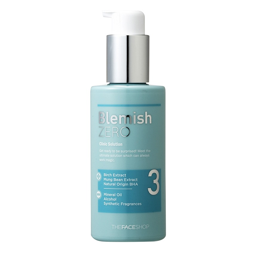 Sữa dưỡng da ngăn ngừa mụn- THEFACESHOP Clean Face Blemish Zero Clinic Solution 150ml