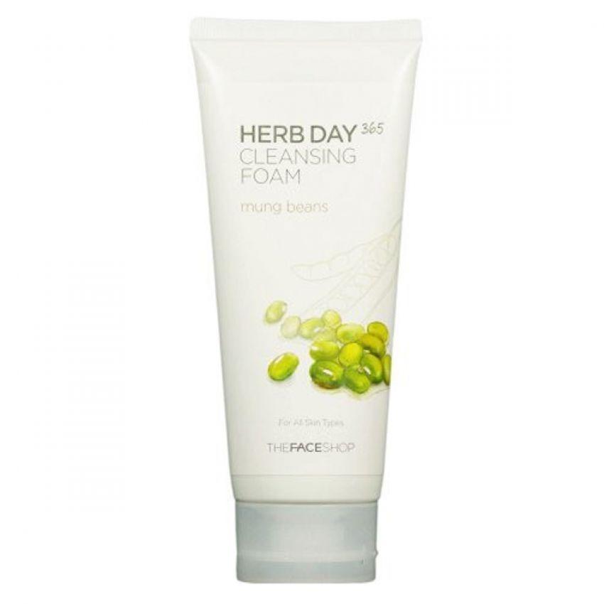 Sữa rửa mặt đậu xanh THEFACESHOP Herb Day Cleansing Foam 170ml