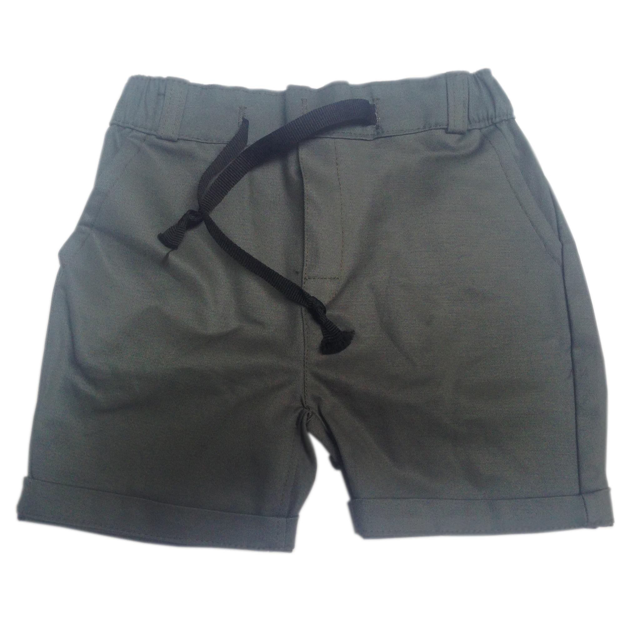 Quần sóc body cho bé trai Made in VietNam - màu bộ đội