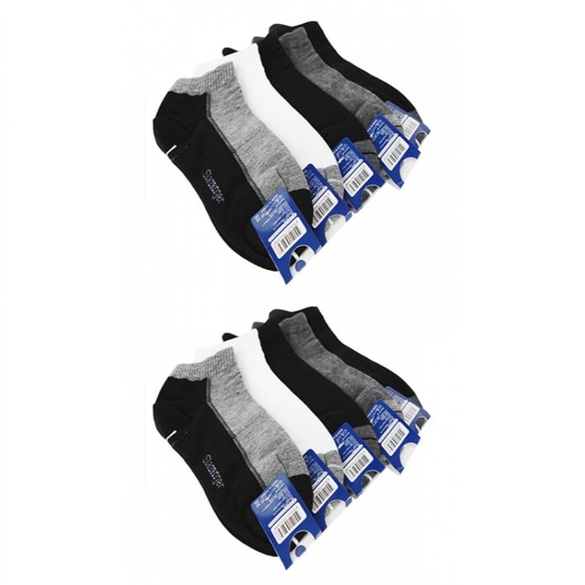 Bộ 1 đôi vớ nam cổ ngắn Slazenger Hàn Quốc