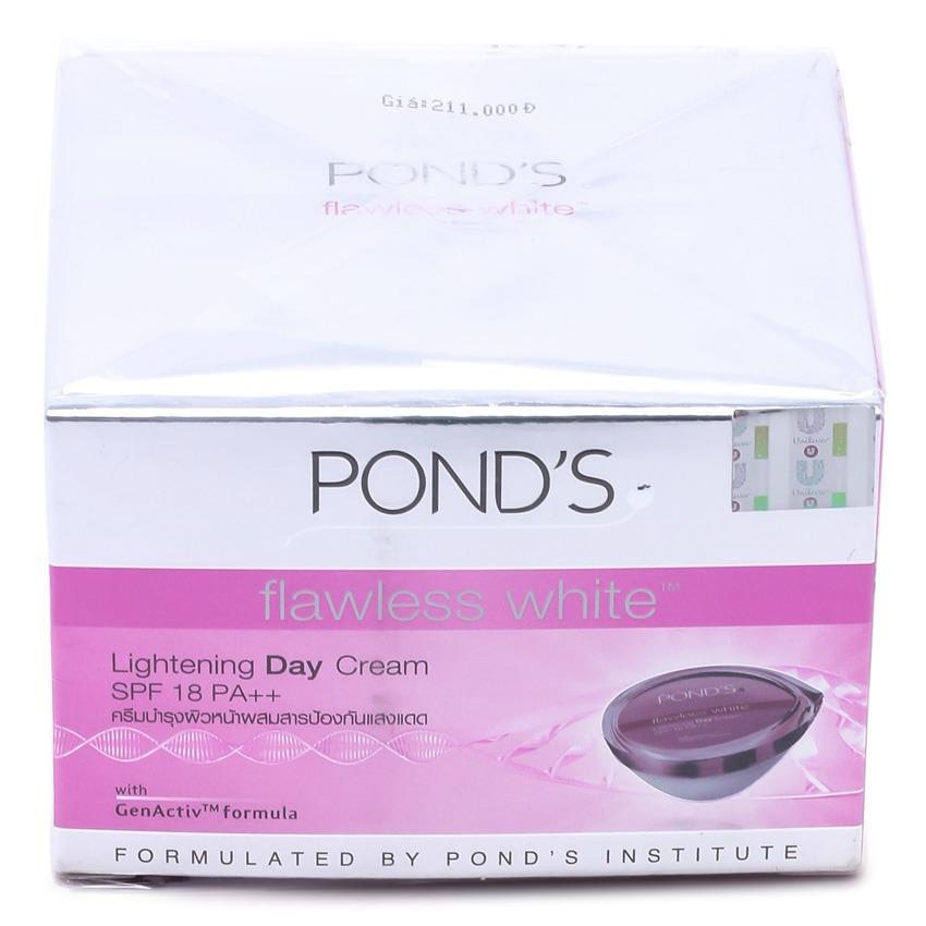 Kem dưỡng trắng da ban ngày POND'S Flawless White Visible Lightening Day Cream SPF 18/ PA++ 50g