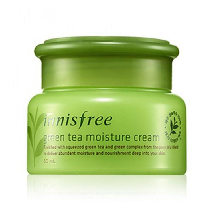 Kem dưỡng da mặt Innisfree Green tea moisture cream 50ml