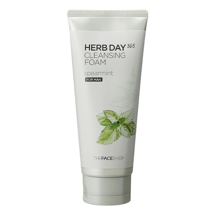 Sữa rửa mặt sạch nhờn- THEFACESHOP Herb Day 365 Cleansing Foam Spearmint 170ml
