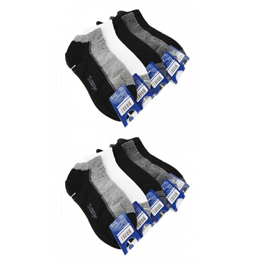 Bộ 10 đôi vớ nam cổ ngắn Slazenger Hàn Quốc