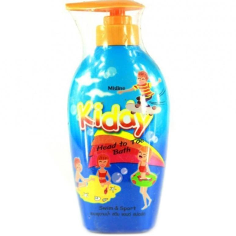 Sữa tắm gội toàn thân cho trẻ em chiết xuất bạc hà Mistine Kiddy 400ml