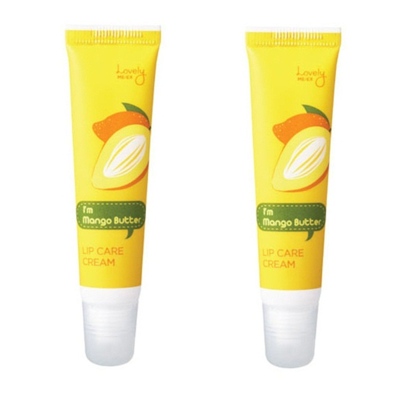 Bộ 2 son dưỡng môi The face shop Lovely Me:ex Lip Care Cream Mango Butter x 12g